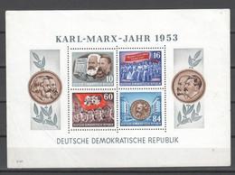 DDR , Block 9 A Mit Gummifehlern , Herzstück Postfrisch - Blokken