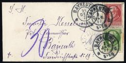 1921, Altdeutschland Bayern, 112 A + 114 A, Brief - Bavaria