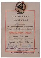"""1986. VBKM Transzvill"""" Br Műgyantás Törzsgárda Jelvény Igazolvánnyal T:1- - Non Classificati"""