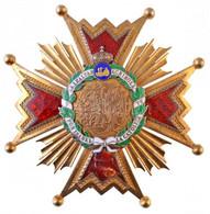 """Spanyolország ~1900-1975. """"Katolikus Izabella-rend Középkeresztjének Csillaga"""" Aranyozott és Zománcozott Kitüntetés, Jel - Non Classificati"""