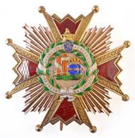 """Spanyolország ~1938-1975. """"Katolikus Izabella-rend Nagykeresztjének Csillaga"""" Aranyozott és Zománcozott Kitüntetés, Jelz - Non Classificati"""