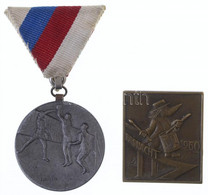 """Vegyes: 1955. """"Budapesti Testnevelési és Sportbizottság F. III. O. B. Tart."""" Fém Díjérem. Szign.: Szentesy + Svájc 1960. - Non Classificati"""