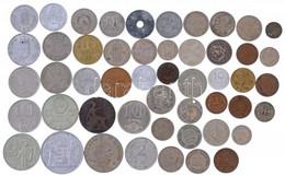 50db-os Vegyes Magyar és Külföldi érmetétel T:vegyes 50pcs Mixed Hungarian And Foreign Coin Lot C:mixed - Non Classificati