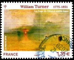 France Poste AA Obl Yv: 402 Mi:4822 William Turner La Plage De Calais (Beau Cachet Rond) - Sellos Autoadhesivos