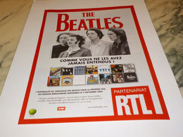 ANCIENNE PUBLICITE CATALOGUE THE BEATLES AVEC RTL   2009 - Andere