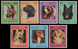 Laos 1987 - Mi-Nr. 981-987 ** - MNH - Hunde / Dogs - Laos