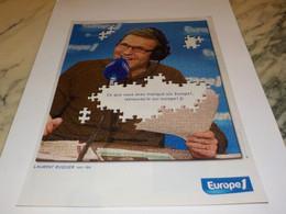 ANCIENNE PUBLICITE LAURENT RUQUIER AVEC EUROPE 1 2008 - Andere
