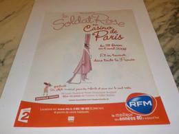 PUBLICITE SPECTACLE LE SOLDAT ROSE AVEC RFM   2007 - Andere