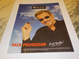 PUBLICITE JOHNNY HALLYDAY ET OPTIC 2000 2003 - Andere