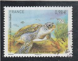 FRANCE 2014 LA TORTUE VERTE OBLITERE YT 4903  - - Gebraucht