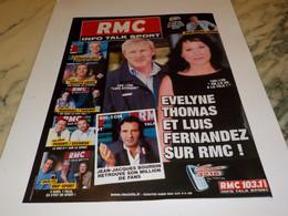 ANCIENNE PUBLICITE EVELYNE THOMAS ET LUIS FERNANDEZ RADIO RMC  2003 - Andere