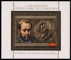 Äquatorial-Guinea 1974 - Mi-Nr. Block 114 ** - MNH - Gold - Nobel-Preisträger - Equatorial Guinea
