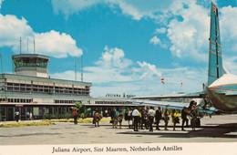 CPA - Aéroport De Juliana St Martin ( Antilles Néerlandaises ) - Hawker Siddeley 748 De La L.I.A.T - Aerodromi