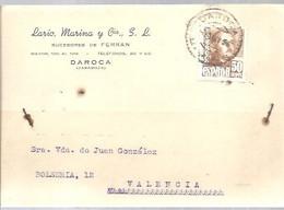 TARJETA POSTAL  1957   TARASSA - 1951-60 Cartas
