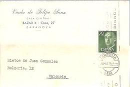 TARJETA COMERCIAL  1963  ZARAGOZA - 1951-60 Cartas