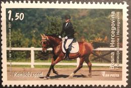 Bosnia And Hercegovina, 2021, Sport - Equestrian (MNH) - Horses