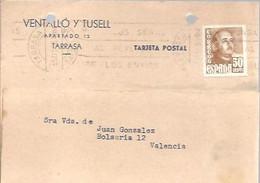 TARJETA COMERCIAL  1954  DAROCA   ZARAGOZA - 1951-60 Cartas