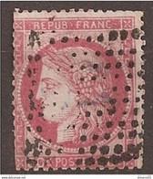 SOLDE RARISSIME OBLI MARITIME 11x11 Sur N°57 Cote 500€ - 1871-1875 Ceres