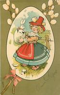 Illustration Joyeuses Paques - Lapin Fillette     Z 208 - Easter