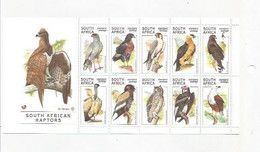 SOUTH AFRICA - 1998 - Raptors - Perf 10v Souv Sheet - Mint Lightly Hinged - Unused Stamps