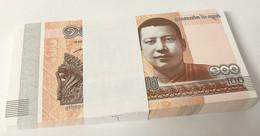 Cambodia 100 Riels 2014/2015 P 65 UNC LOT 100 PCS 1 BUNDLE - Cambodia