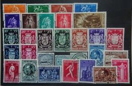 BELGIE  1945     Nr. 701 - 709 / 716 - 724 / 725 - 727 En 728 - 736       Gestempeld   CW 21,00 - Used Stamps