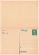 P 197I Friedrich Ebert 8/8 Pf. Dunkelgrün, Geschnitten, ** Wie Verausgabt - Stamped Stationery