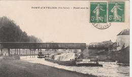 Port D'Atelier (Hte-Saône) - Pont Sur La Saône / Péniche (Edmond - Cie Des Bateaux Omnibus De Lyon) - Non Classés