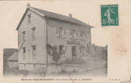 Gare De Champagney (Hte-Saône) - Café J.Grisey - Non Classés