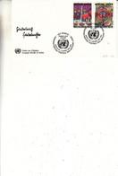 Nations Unies - Office De Genève - Lettre De 1983 - Oblit Genève - Droits De L'homme - Peintures Hundertwasser - Lettres & Documents