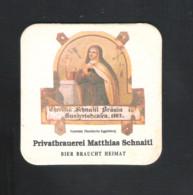 Bierviltje - Sous-bock - Bierdeckel : SCHNAITL-PRIVATBRAUEREI MATTHIAS SCHNAITL-BIER BRAUCHT HEIMAT - (2 Scans) (B 1198) - Portavasos