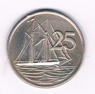 25 CENTS 1977 CAYMAN ISLANDS /6265/ - Cayman Islands