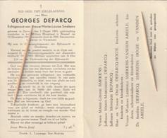 Rijkswachter, Georges Deparcq, Smekens, Zarren, Bussel, Oudstrijder, 1940-45 - Images Religieuses