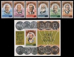Grenada 1978 - Mi-Nr. 865-870 & Block 68 ** - MNH - Nobel-Preisträger - Grenada (1974-...)