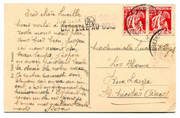 1933 2 Talige Lijnstempel KAPELLE O/D BOSCH  CAPELLE AU BOIS Via Brussel Naar St Nicolas - Kaart Nieuwenrode Hof Pastori - Kapelle-op-den-Bos