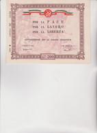 Biglietto  Sottoscrizione Per La Stampa Comunista 1950 -  Lire  200 . - Historical Documents