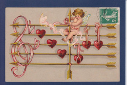 CPA Angelot Ange Angel Illustrateur Gaufré Embossed Circulé - Angels