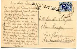 1934 Lijnstempel KAPELLE O/D BOSCH Via Brussel Naar Rue Large Les House St Nicolas - Kaart Nieuwenrode Hof Pastorij - Kapelle-op-den-Bos