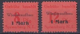 Deutsche Lokalausgaben Spremberg 1946 - Mi.Nr. 15 - 16 A - Postfrisch MNH - Zona Soviética