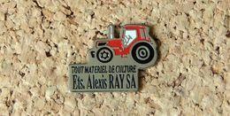 Pin's TRACTEUR Agricole Publicitaire Ets Alexis RAY SA - Peint Cloisonné - Fabricant Inconnu - Other