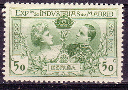 ESPAGNE; 1.10.1907 Exposition De Madrid, Edifil-No. SR4 , YT No. 239, Neuf **, Lot 20932 - Ungebraucht