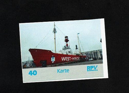 BRD - Privatpost - RPV - Lighthouse Schiff Ship - Feuerschiff West-Hinden In Zeebrügge, Belgien - Lighthouses