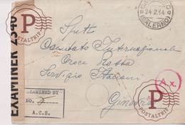DUERRE 1944 SALERNO ITALIA A GINEVRA - Marcofilía