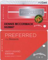 Station Casino S : Lot De 2 Cartes Preferred (My Card - My Rewards) - Casinokaarten