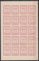 Deutsche Lokalausgaben Strausberg 1946 - Mi.Nr. 34 - 37 B - Postfrisch MNH - Kompletter Bogen Mit Plattenfehlern - Zona Sovietica