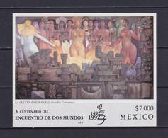 MEXICO 1992, Mi# Bl 37, CV €25, Art, Architecture, MNH - Mexico