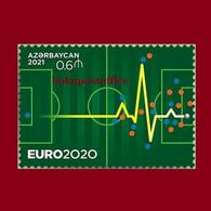 """EURO-2020"" Azerbaijan Stamps 2021 Football Soccer MNH Single Stamp - Championnat D'Europe (UEFA)"