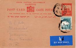 Palestine-CSR Marinbad 1936 Judaica Uprated Postal Card VII - Palestina