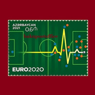 """EURO-2020"" Azerbaijan Stamps 2021 Football Soccer MNH Single Stamp - Medicina"