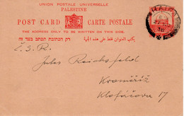 Palestine-CSR Klofarova 1938 Judaica Postal Card VIII - Palestina